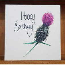 FB2217 Happy Birthday - Thistle