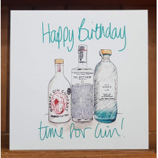 FB2216 Happy Birthday 3 Bottles Island Gin