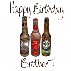 FB3035 Happy Birthday Brother - Beers