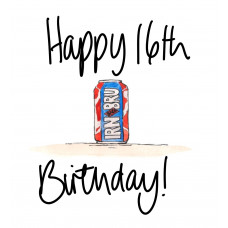 FB2265 Happy 16th Birthday Irn Bru
