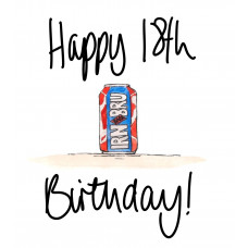 FB2266 Happy 18th Birthday Irn Bru