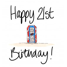 FB2267 Happy 21st Birthday Irn Bru