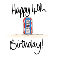 FB2269 Happy 40th Birthday Irn Bru
