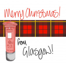 FB2425X-Glasgow Merry Christmas from Glasgow Post Box