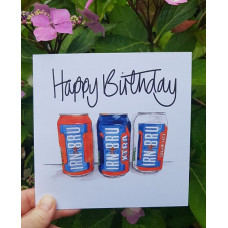 FB1960 Happy Birthday - Irn Bru Can Trio
