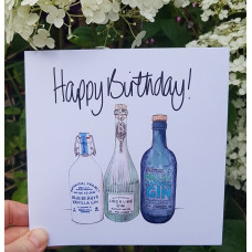 FB1962 Happy Birthday - Gin Bottles