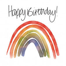 FB2256 Happy Birthday Rainbow