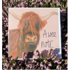 FB1929 A Wee Note - Heilan Coo - colour