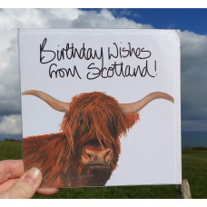 FB1954 - Birthday Wishes from Scotland - Heilan Coo