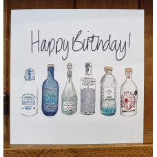 FB2212 Happy Birthday 6 Bottle of Gin